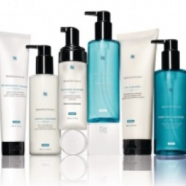 several bottles of skin ceuticals skin care products